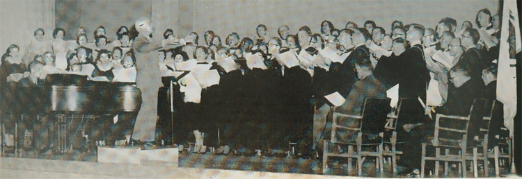 Randall Thompson conducts HCS, Fall 1959